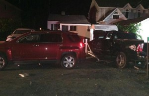 Photo of a six-vehicle crash in the 800-block of Point Pelee Dr., August 31 2014 courtesy of Leamington Fire Services.