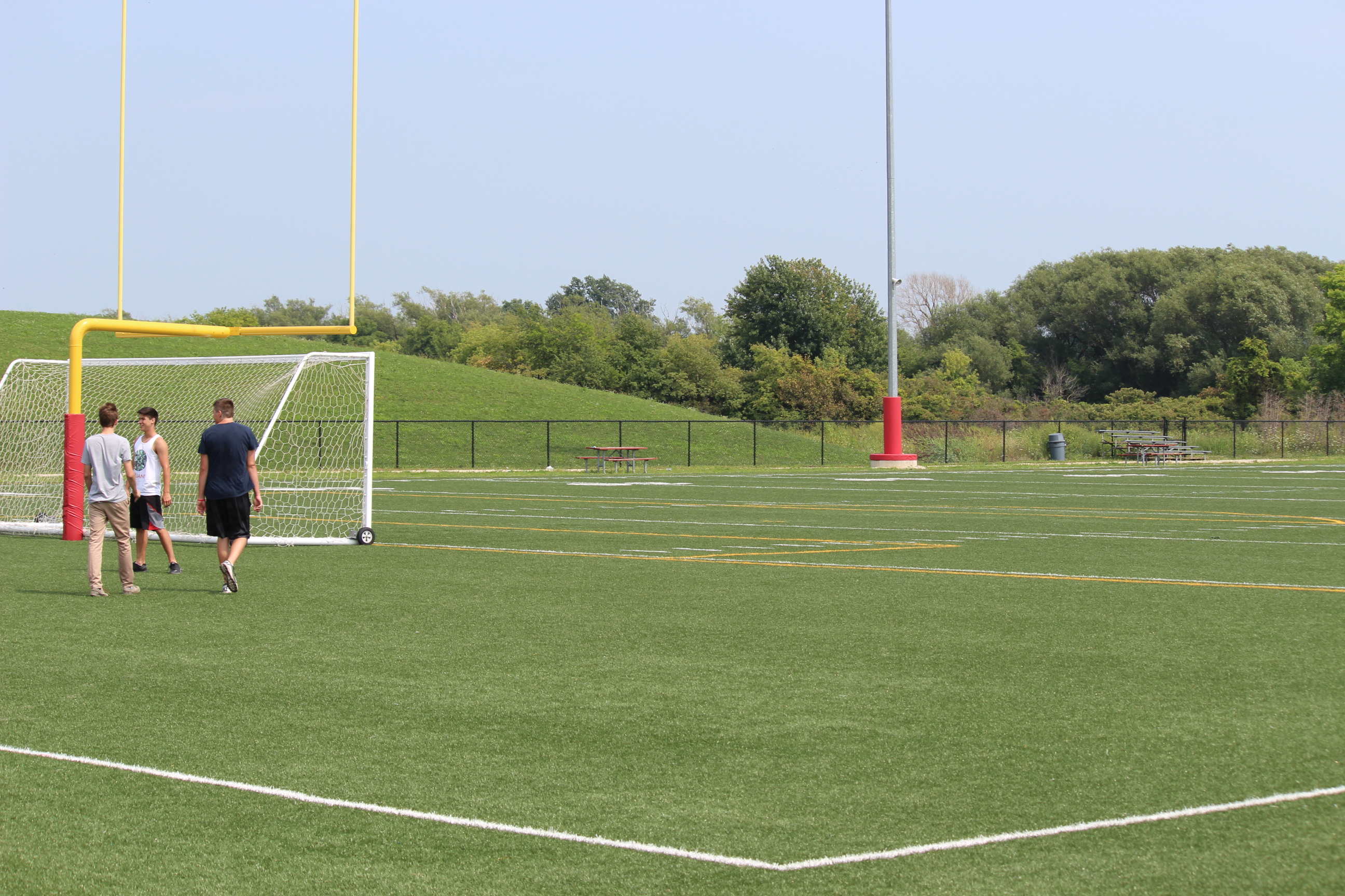 The soccer pitch at the Libro Credit Union Centre in Amherstburg, August 19 2014. (Photo by Adelle Loiselle.)