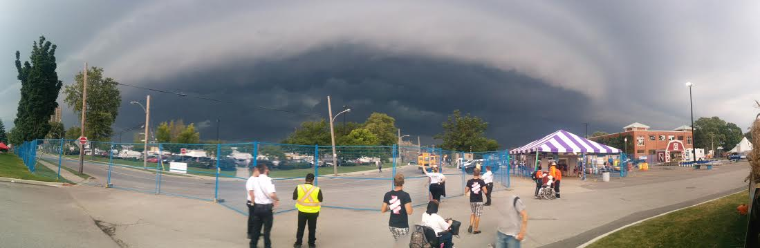 A severe storm approaches in London at the Western Fair, September 5, 2014. (Photo courtesy of Ryan Valdron)