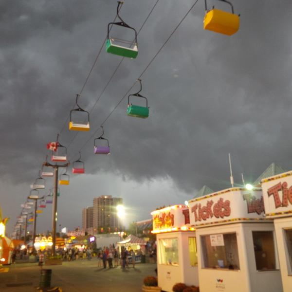 A severe storm approaches in London at the Western Fair, September 5, 2014. (Photo courtesy of Shaun Lewis)