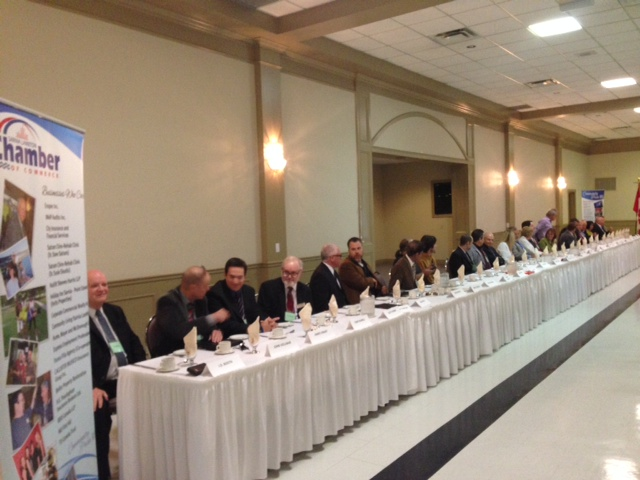 Sarnia's first all candidates debate, September 23, 2014 BlackburnNews.com (Photo by Melanie Irwin)