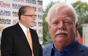Windsor Mayoral Candidates Drew Dilkens (left) and John Millson (right).