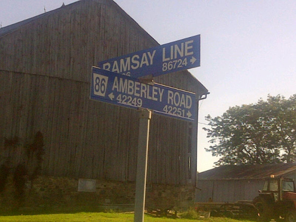 Ramsay Line - Amberley Road sign 2