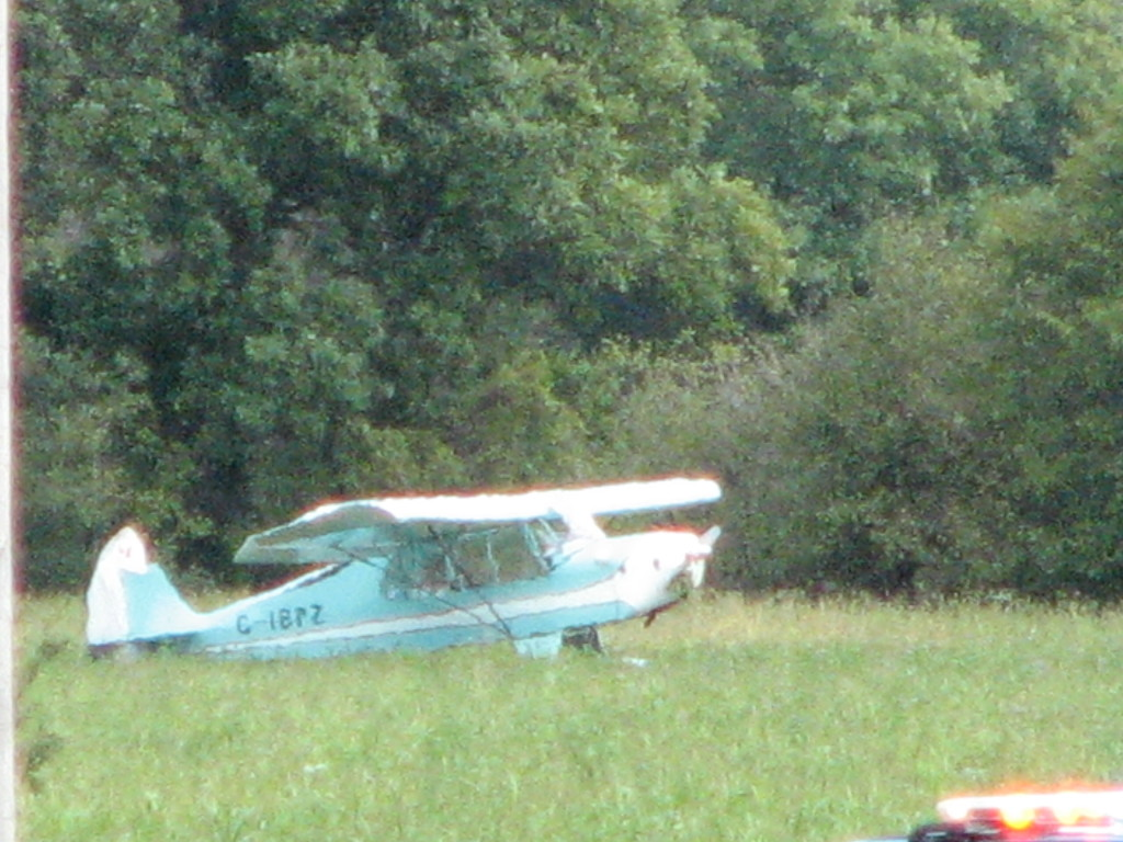 Plane righted