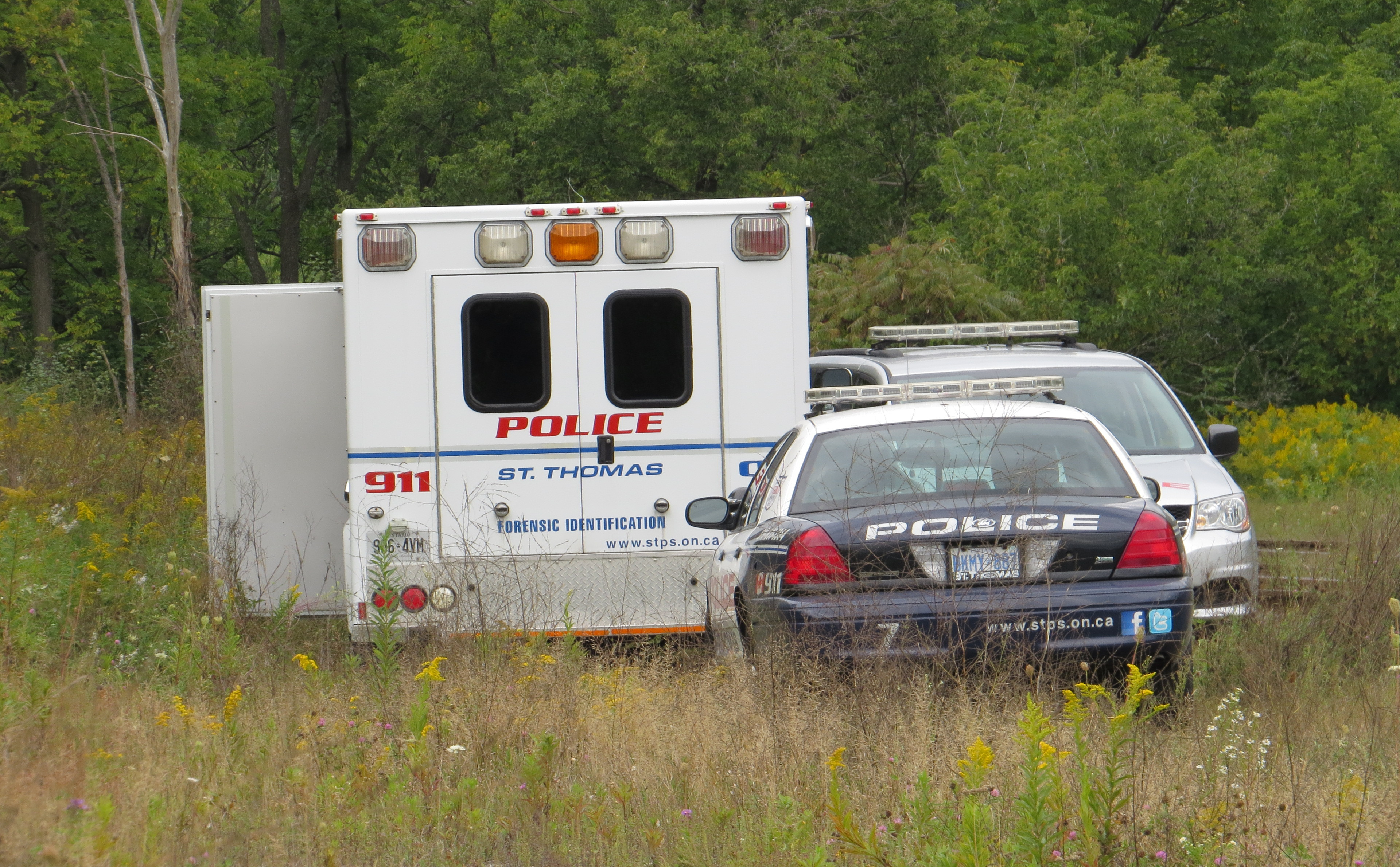 St. Thomas police investigate after a body is discovered in Athletic Park.
