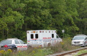 St. Thomas police investigate after a body is discovered in Athletic Park. September 15, 2014. Photo by Ashton Patis.