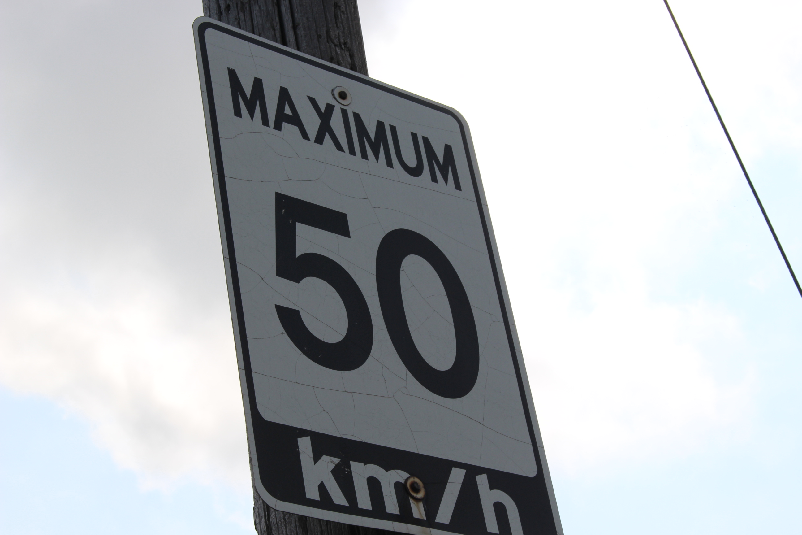 A speed limit sign. (Photo by Adelle Loiselle)