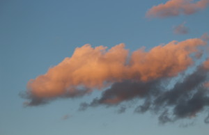 Clouds at sunset, September 6 2014. (Photo by Adelle Loiselle.)