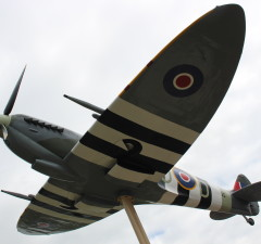 A dedication ceremony is held in Essex for the WWII replica Spitfire. (Photo by Jason Viau)
