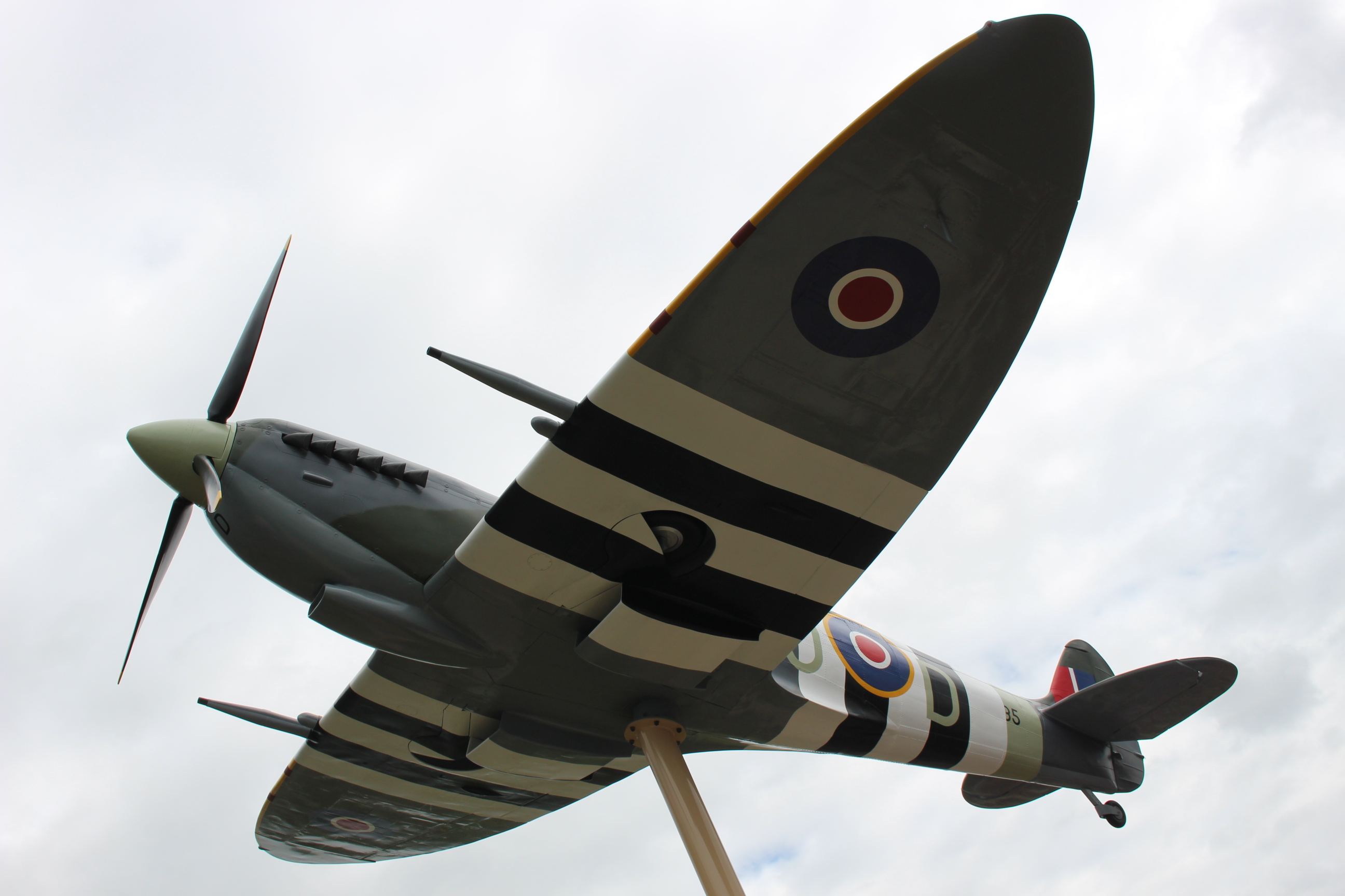 WWII replica Spitfire in Essex. (Photo by Jason Viau)