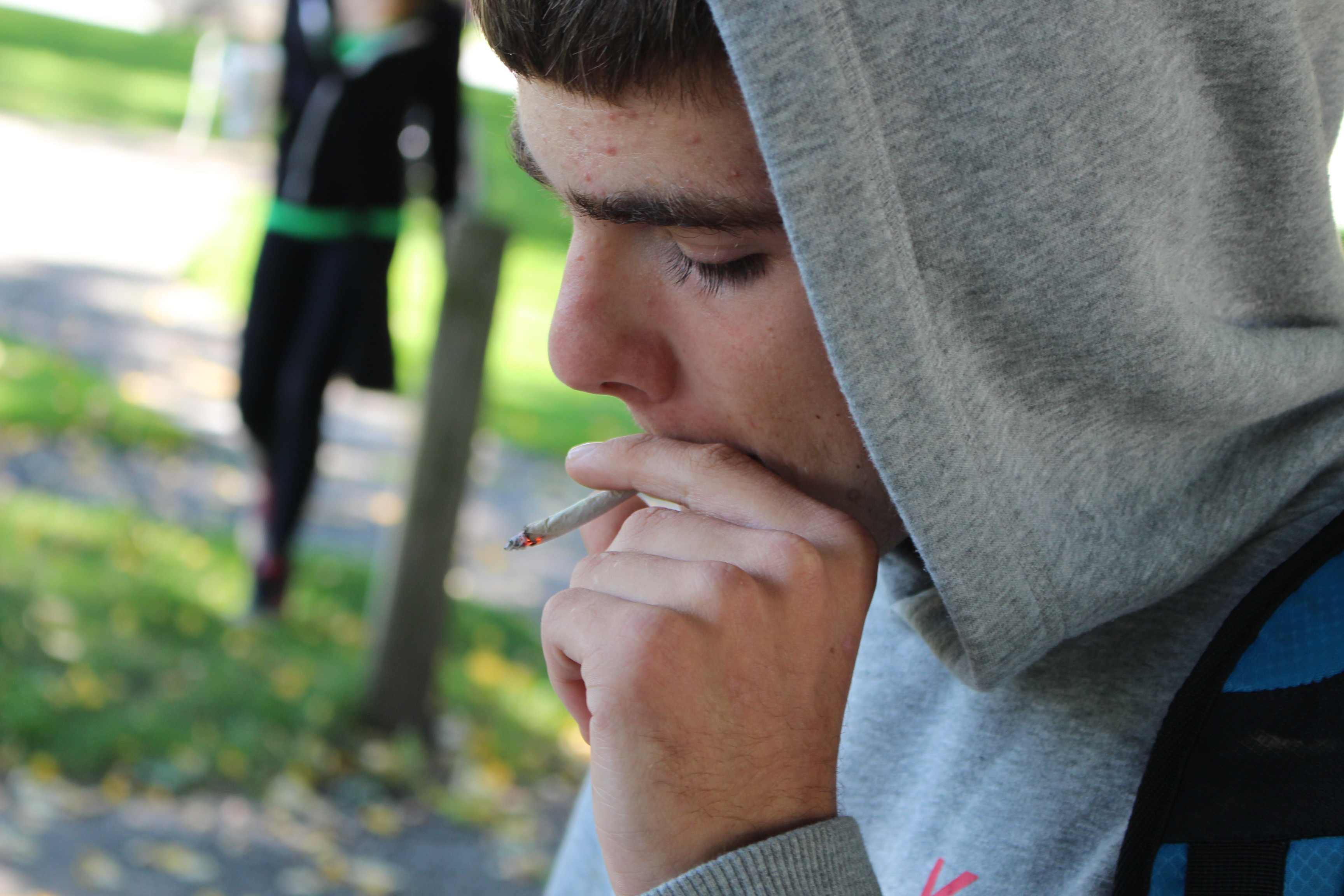 BlackburnNews.com file photo of someone smoking marijuana. (Photo by Jason Viau)