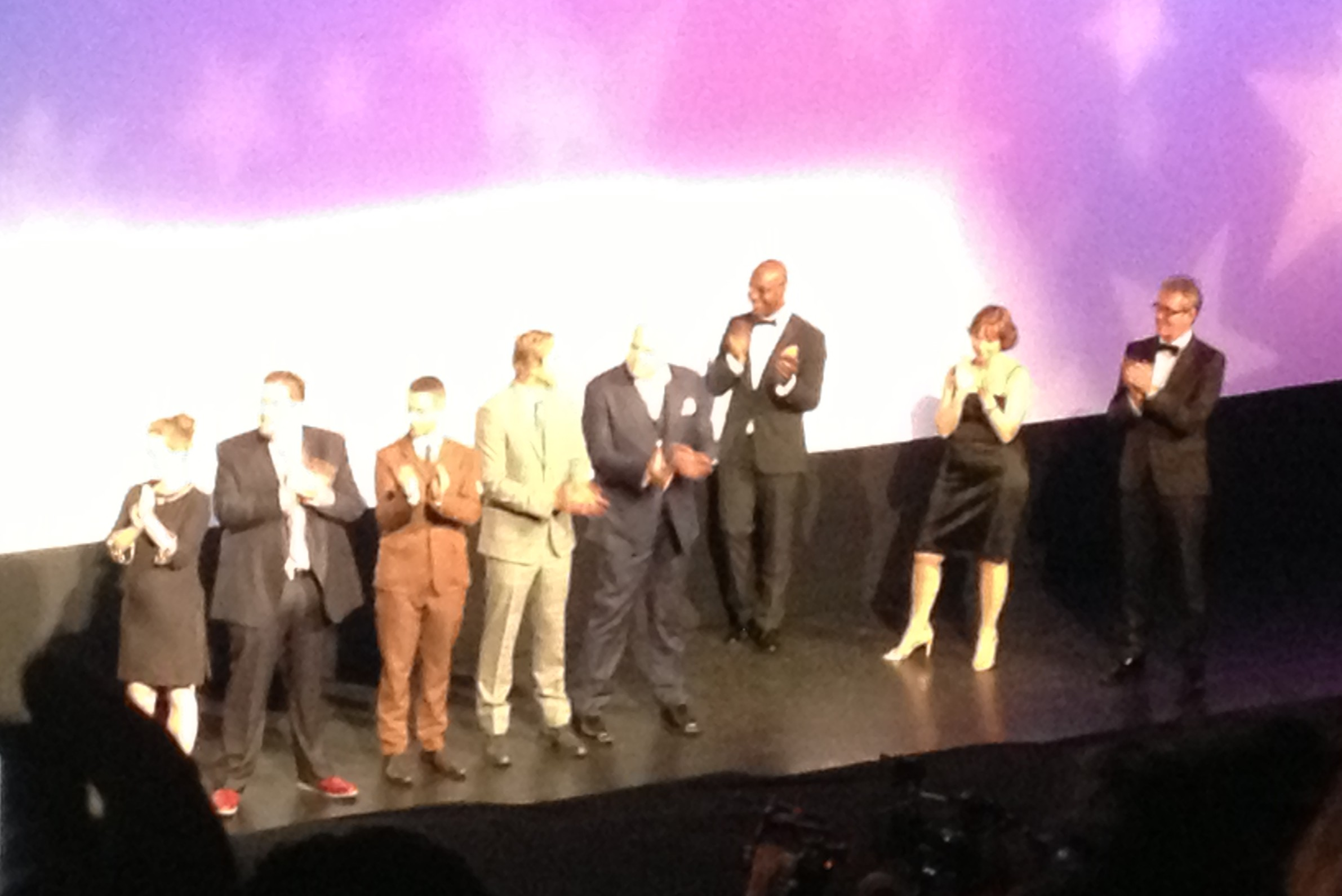 """The cast of the film """"The Judge"""" at the Toronto International Film Festival. (Photo courtesy of Sam East)"""