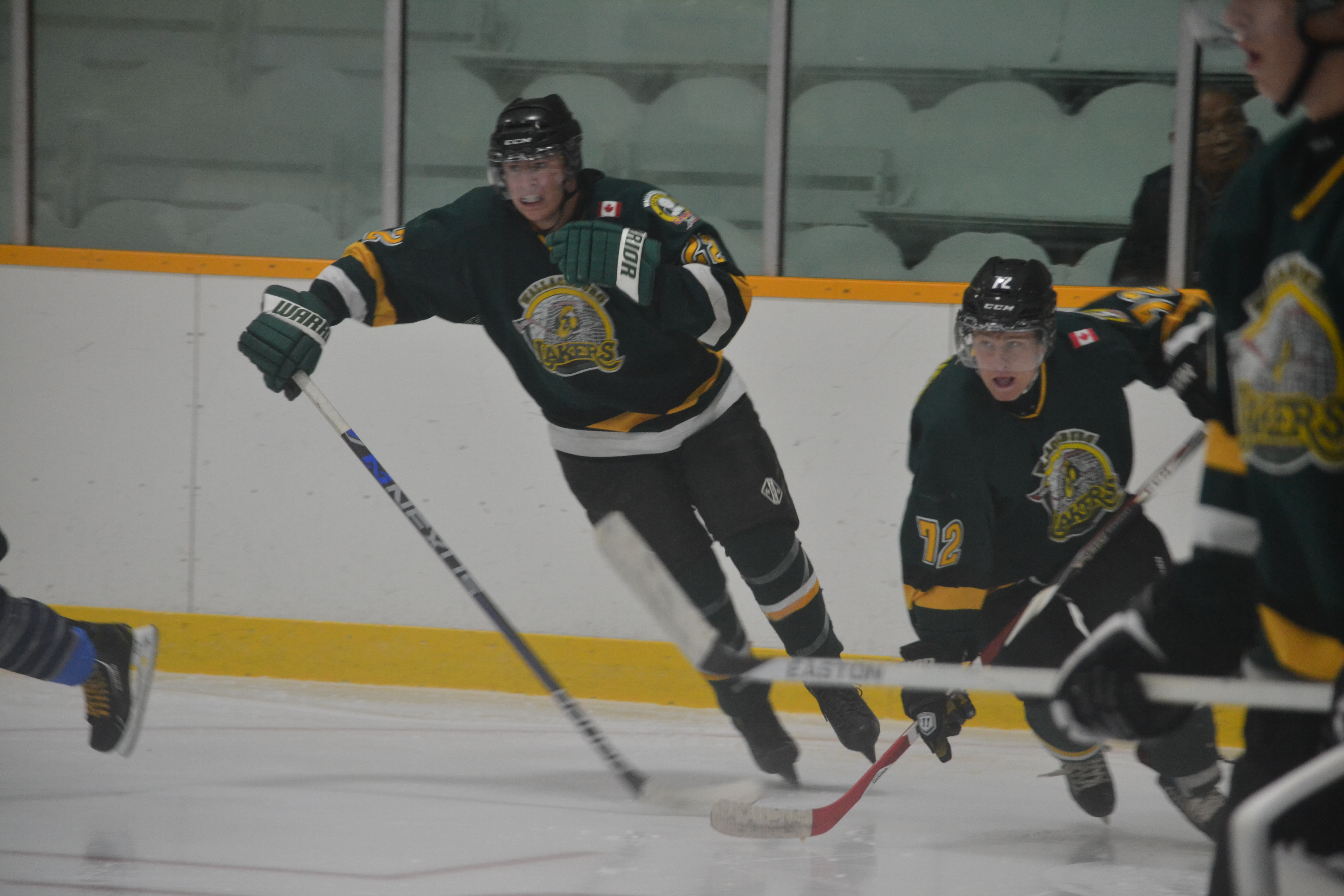 The Wallaceburg Lakers host the Amherstburg Admirals in their 2014 home opener. (Photo courtesy of Gail Cook)