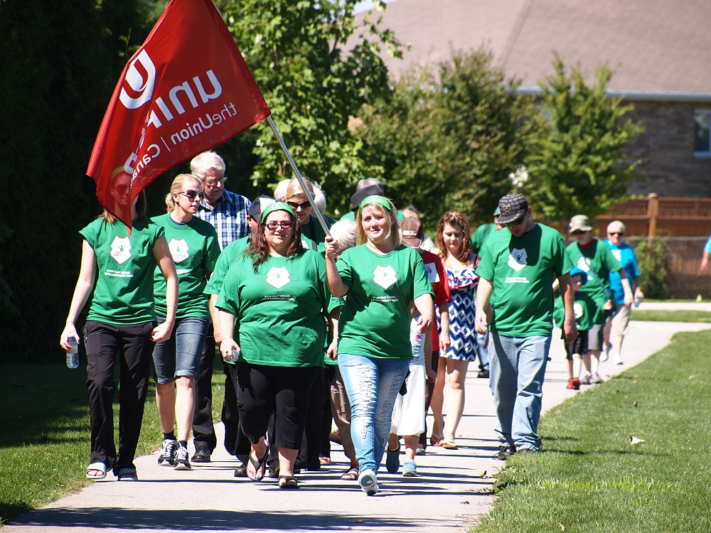 Participants in the Parkinson Superwalk in Chatham Sept 7 2014 (Photo courtesy of Steve Hickson)