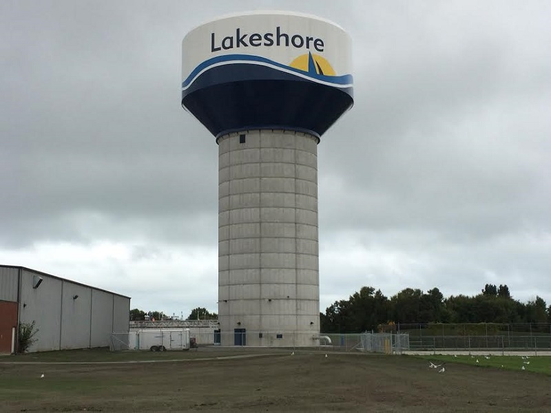 The Lakeshore water tower. (Photo courtesy of the Town of Lakeshore)