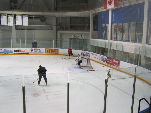 O'Reilly brothers practice at Maitland Rec Centre in Goderich (Photo: Bob Montgomery)