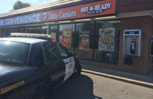 OPP on scene at the Little Caesars in Leamington investigating a robbery on September 29, 2014. (Photo by Ricardo Veneza)