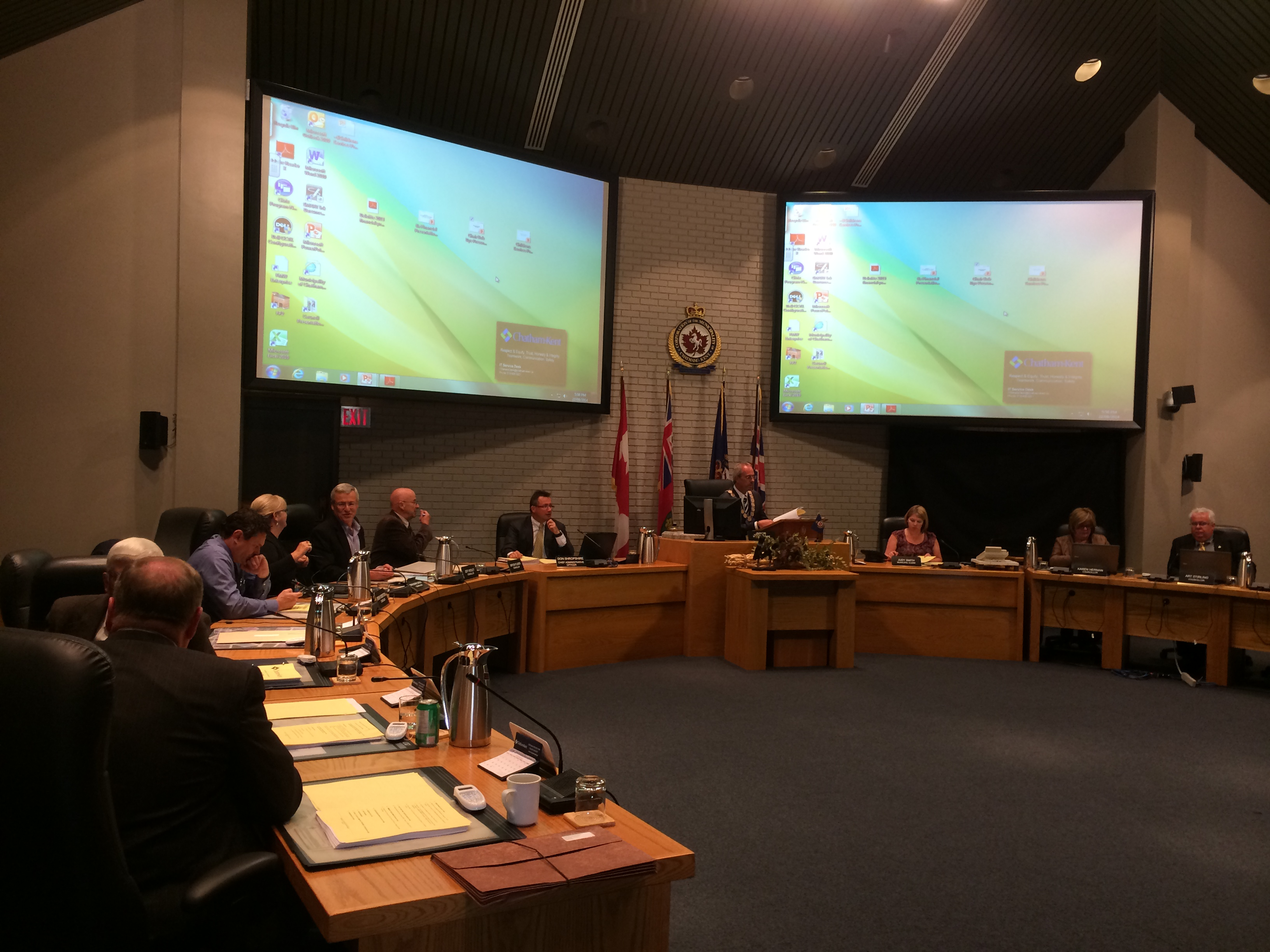 Chatham-Kent Council meets for its regular meeting on September 22, 2014. (Photo by Ricardo Veneza)