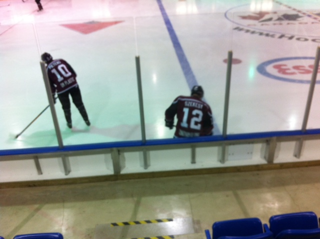 The Chatham Maroons battle the Lambton Shores Predators, September 27, 2014. (Photo by Mike James)