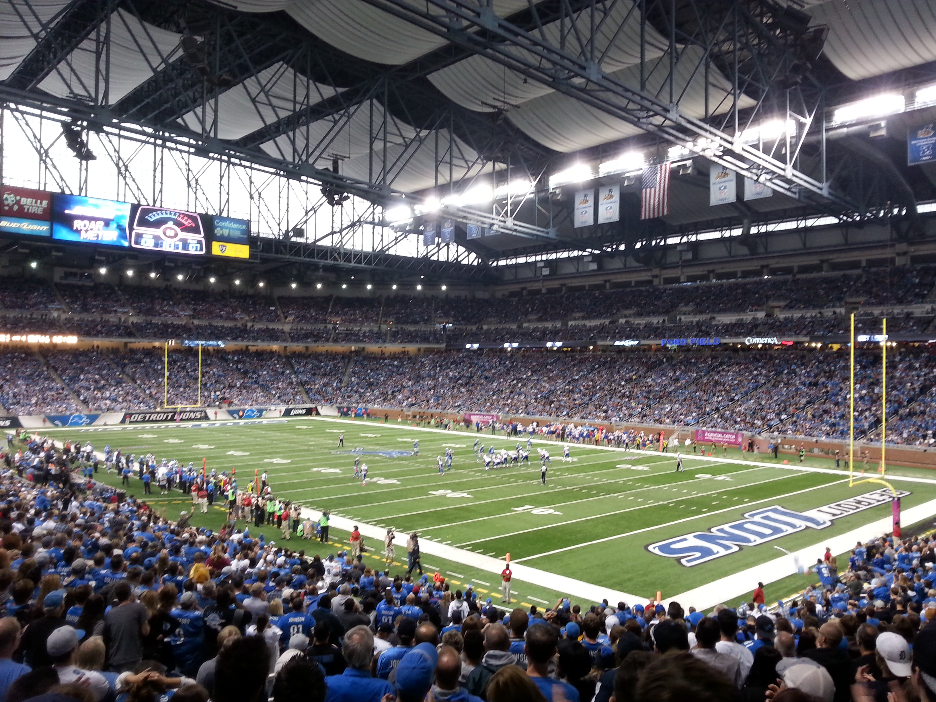 The Detroit Lions take on the Buffalo Bills at Ford Field. (Photo by Cheryl Johnstone)