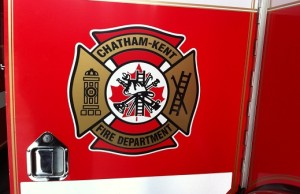 The Chatham-Kent Fire Department logo. (Photo by BlackburnNews.com)