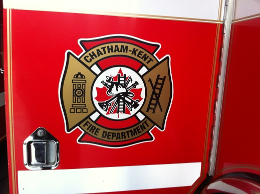 The Chatham-Kent Fire Department logo. (Photo by Bob Becken)