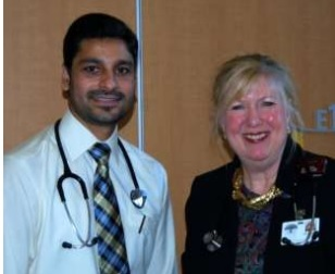 Dr. Laurel Moore (R) welcomes Dr. Yad Dhillon (L) to the HPHA!