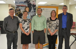 Dr. Blake Pearson (middle) is the 21st physician recruited by a Sarnia-Lambton taskforce. (submitted photo)