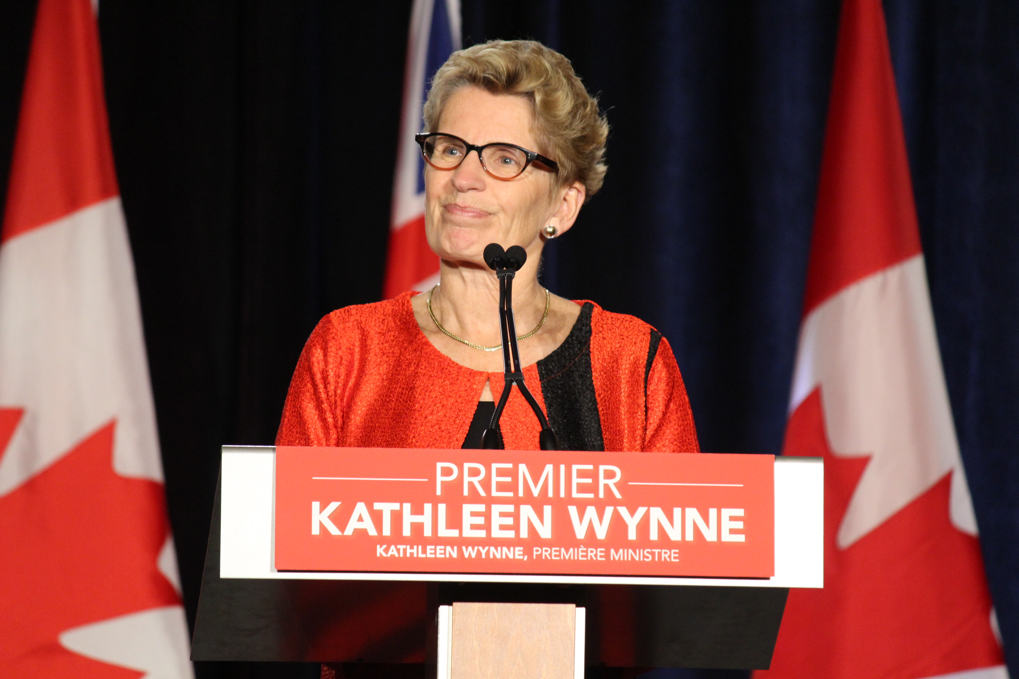 Liberal Ontario Premier Kathleen Wynne addresses Provincial Council at Caesars Windsor on October 18, 2014. (Photo by Jason Viau)