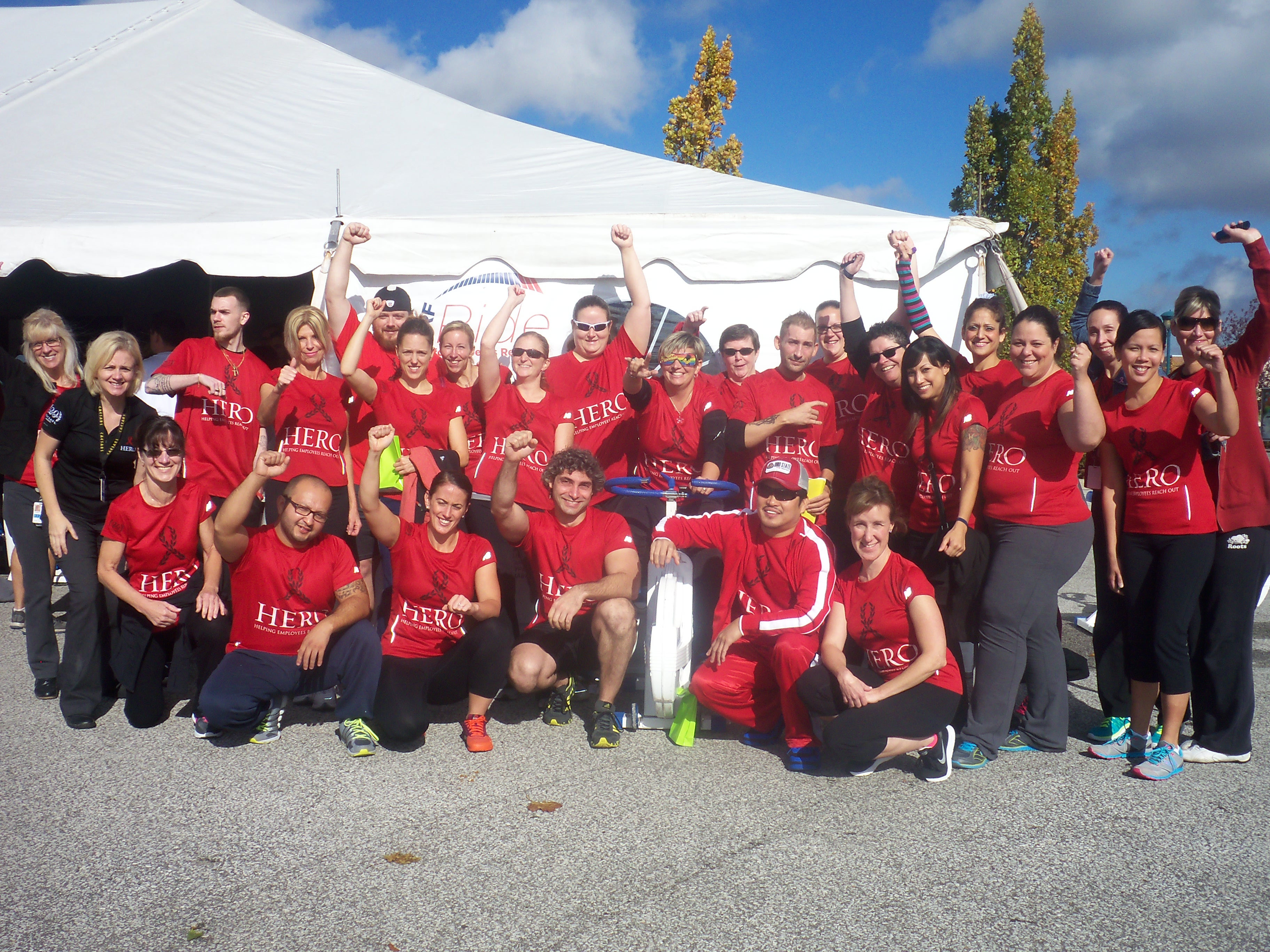 Riders take part in the 2014 JDRF Ride in Windsor on October 15, 2014. (Photo courtesy Nicole Cozad)
