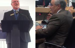 John Paterson and Charlie Wright are both trying to become Leamington's next mayor during the 2014 municipal election.
