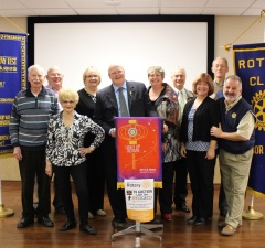Members of the Rotary Club of Windsor-St. Clair kick off their biggest fundraising event the Rotary auction. (Photo by Maureen Revait)