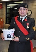 Bruce Power employee Laszlo Santha, who also serves as Sergeant Santha with the Grey and Simcoe Foresters located in Owen Sound. He's been in the Reserves for 25 ½ years. Sgt Santha is also a volunteer firefighter in Tiverton (photo courtesy of Bruce Power)