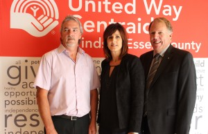 Campaign Chair Jack Robinson, Executive Director Lorraine Goddard and Chair of the Board of Directors Dave Hitchcock at the 2014 United Way Campaign Kick off.