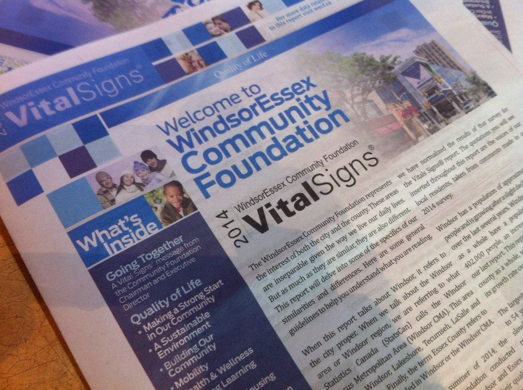 The Windsor Essex Community Foundation releases its annual Vital Signs report on October 15, 2014. (Photo by Jason Viau)