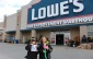 Supporters of Friends of the Earth hold demonstration outside of Lowes in Windsor, (photo by Maureen Revait)