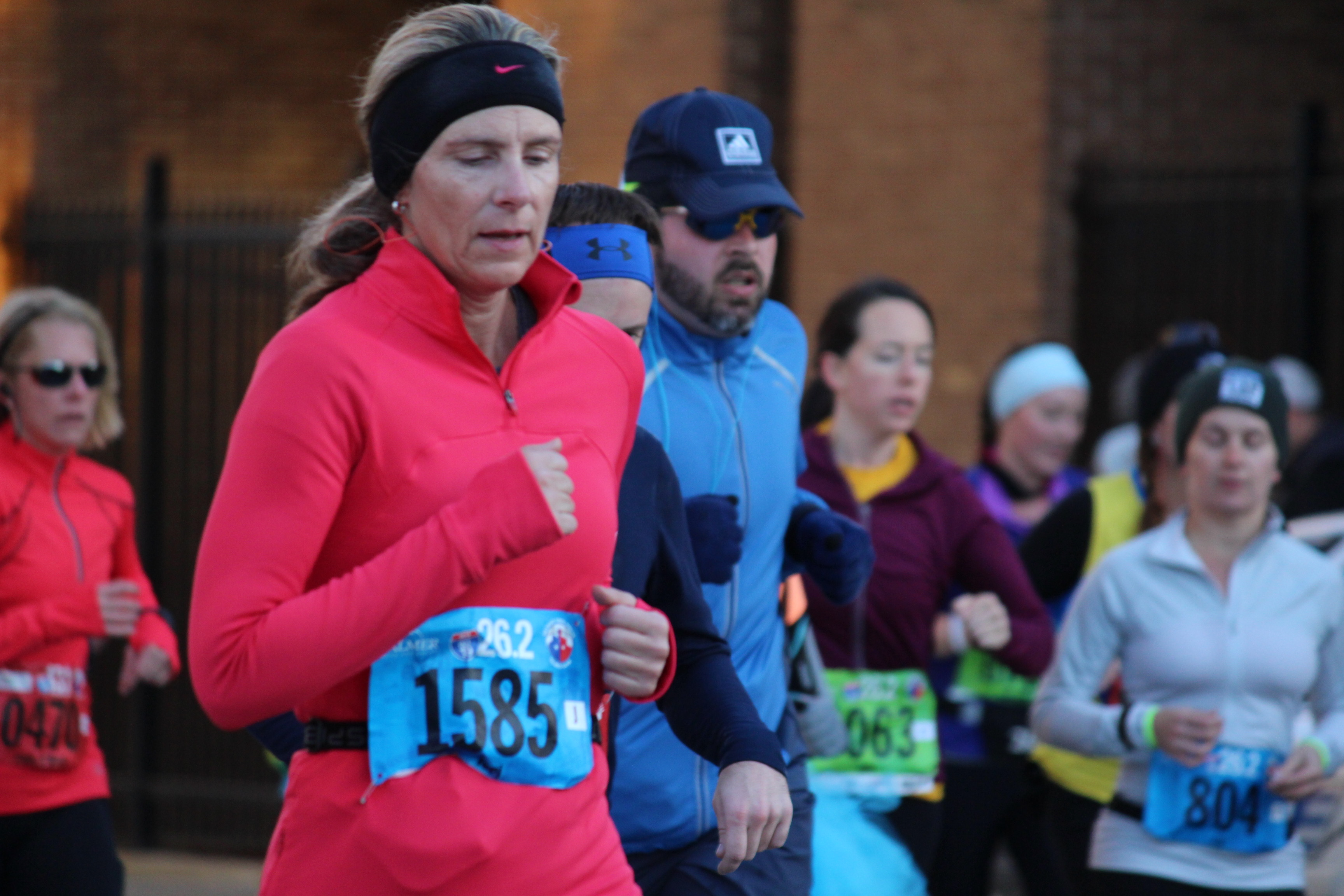 Runners during the 2014 Detroit Free Press Marathon. (Photo by Adelle Loiselle)