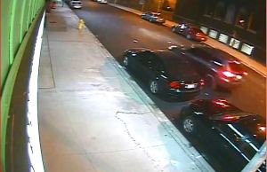 A hit and run accident in the 700-block of Pelissier St. in Windsor, October 26 2014. (Photo courtesy of Windsor Police Services.)