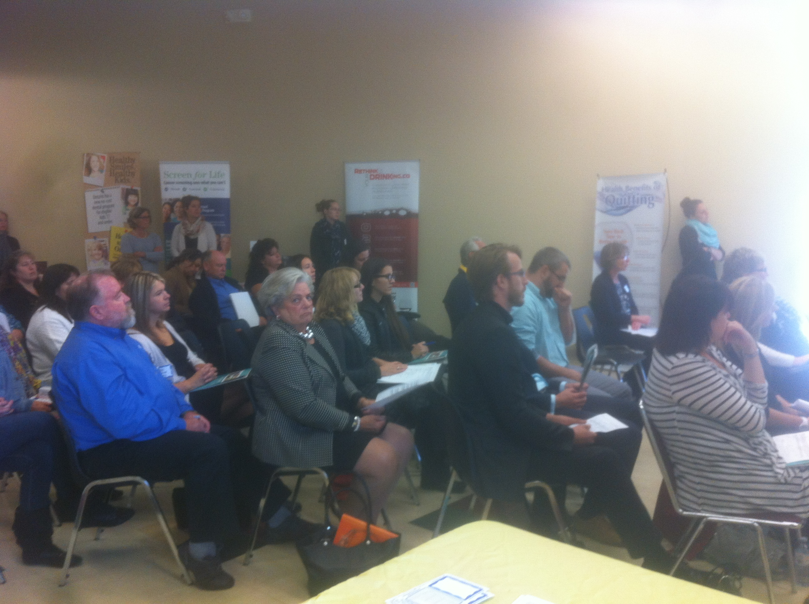 Attendees at a workplace wellness workshop in Chatham. (Photo by Jake Kislinsky)
