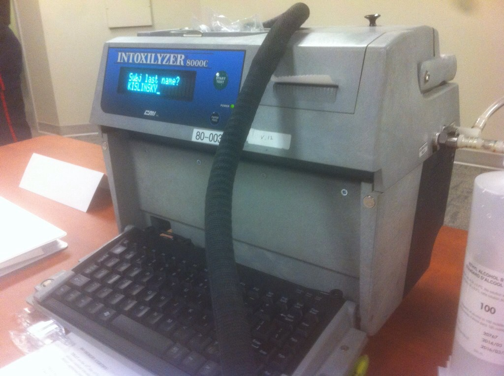 The machine used to administer breathalizer tests. (Photo by Jake Kislinsky)