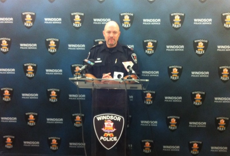 Windsor Police Public Information Officer Matthew D'Asti reveals 64 additional charges have been laid against a man accused of child exploitation. (Photo by Jason Viau)