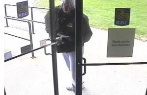 Suspect in Oct 6, 2014 armed robbery of the Royal Bank branch in Corunna.  Submitted photo.