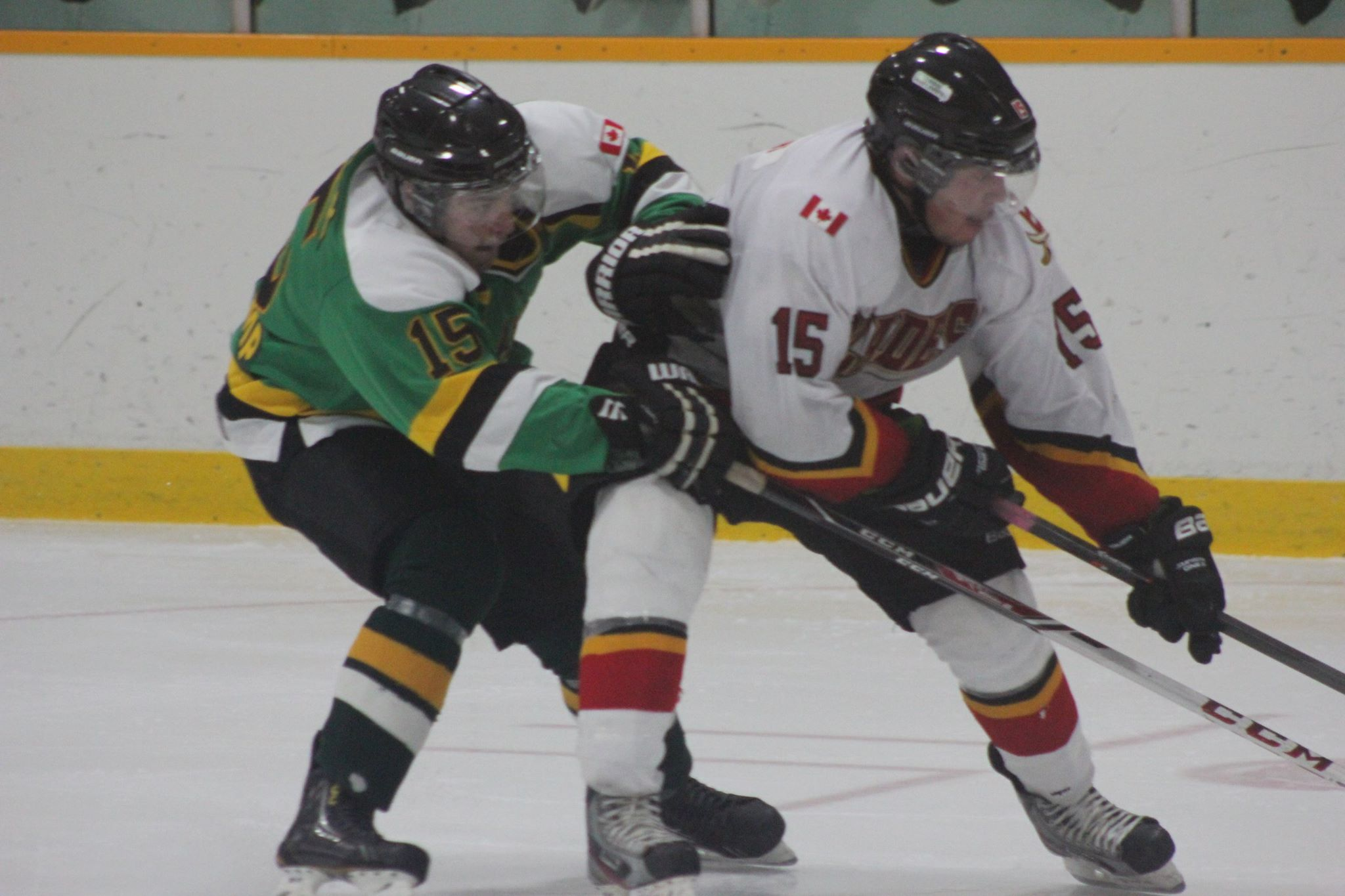The Wallaceburg Lakers take on the Blenheim Blades on November 12, 2014. (Photo courtesy of Jocelyn McLaughlin)