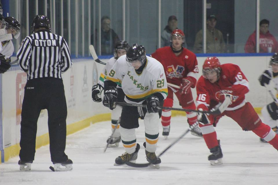 The Wallaceburg Lakers take on the Mooretown Flags, November 8, 2014. (Photo courtesy of Jocelyn McLaughlin)