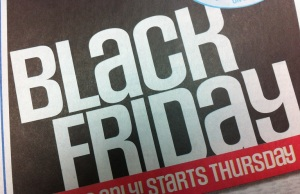 A Black Friday flyer advertising deals at a Canadian retailer. (Photo by Mike James)