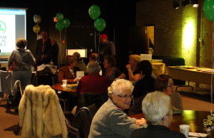 Volunteers and members of the public celebrate the 50th Anniversary of the Chatham Cultural Centre (Photo taken by Jake Kislinsky).