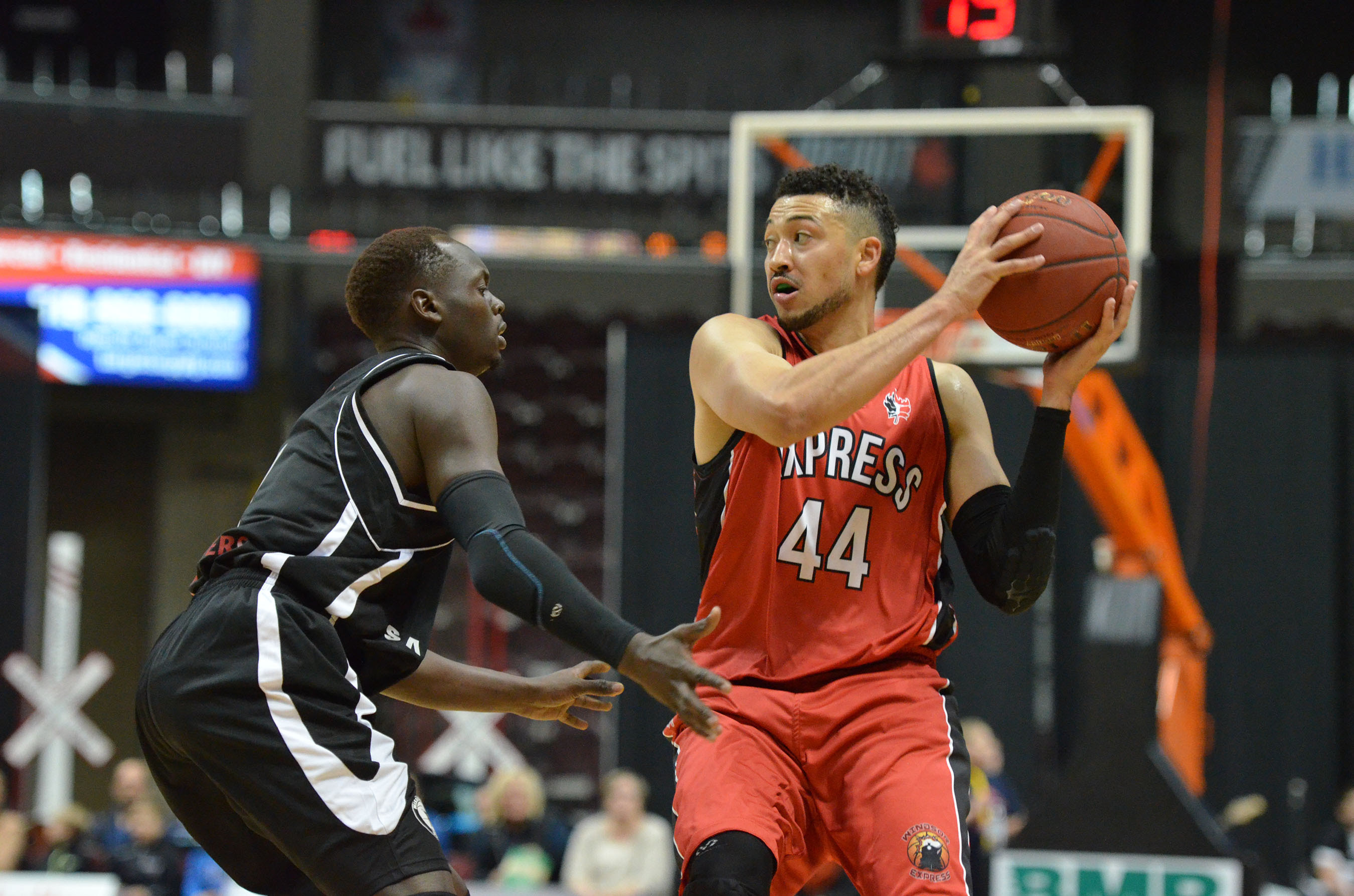 The Windsor Express take on the Mississauga Power at the WFCU Centre, November 15, 2014. (Photo courtesy of the Windsor Express)