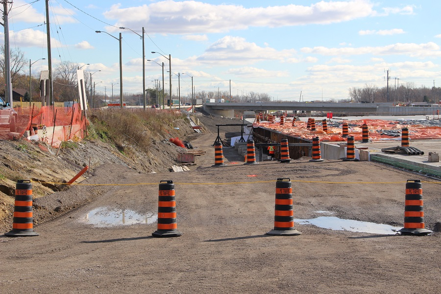 Construction of the Herb Gray Parkway, Nov. 7 2014.