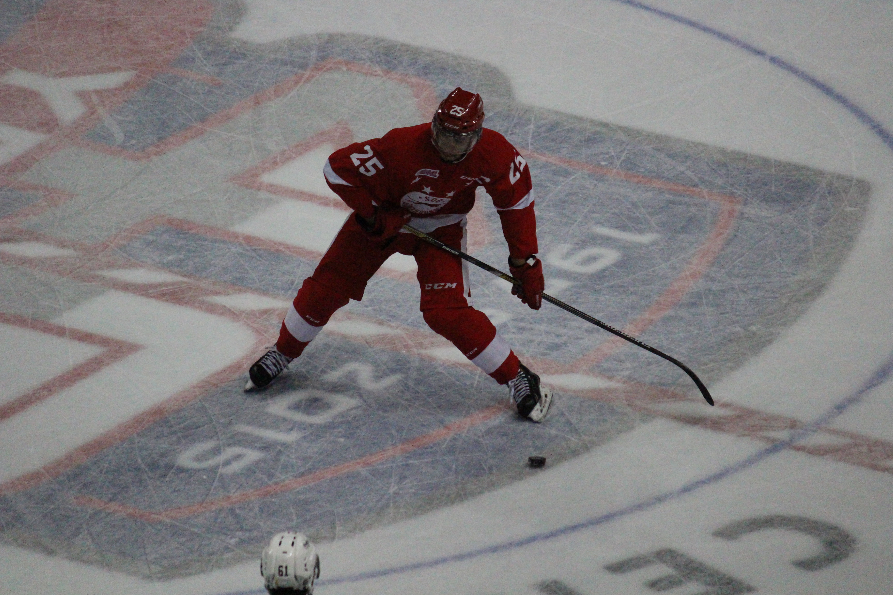The Windsor Spitfires lose 2-4 against the Sault Ste Marie Greyhounds on November 16, 2014 at the WFCU Centre. (Photo by Jason Viau)