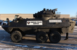 The Windsor Police Service's Tactical Rescue Vehicle is unveilled, November 21, 2014. (photo by Mike Vlasveld)